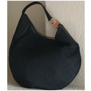 GUCCI MONOGRAM Glam Hobo Black♥️